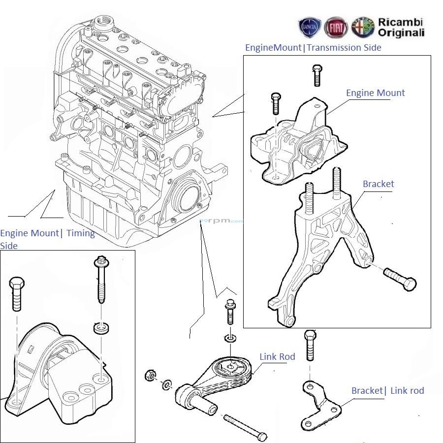 Engine Mount  1.2 FIRE  Punto