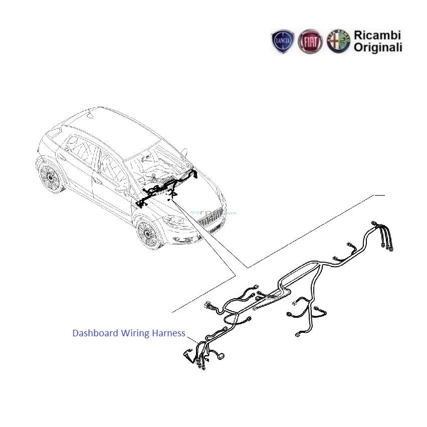 Fiat Grande Punto: Dashboard Wiring Harness