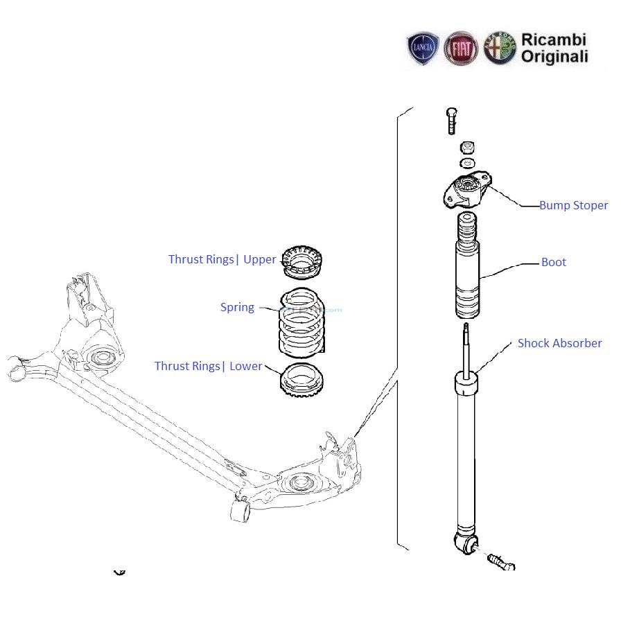 Fiat Grande Punto 1 4 Fire Petrol Engine  Rear Suspension
