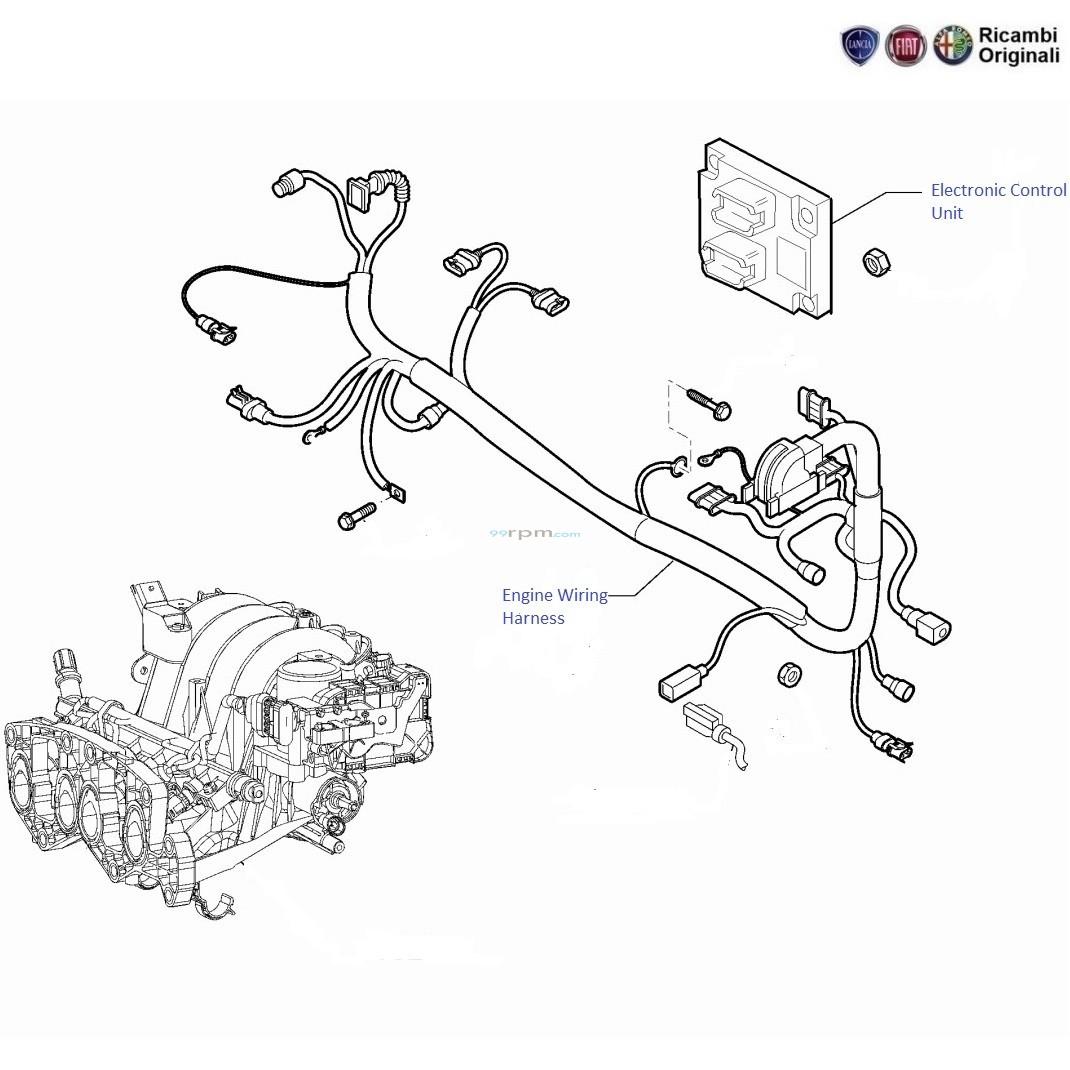 fiat grande punto 1 4 fire  engine wiring harness