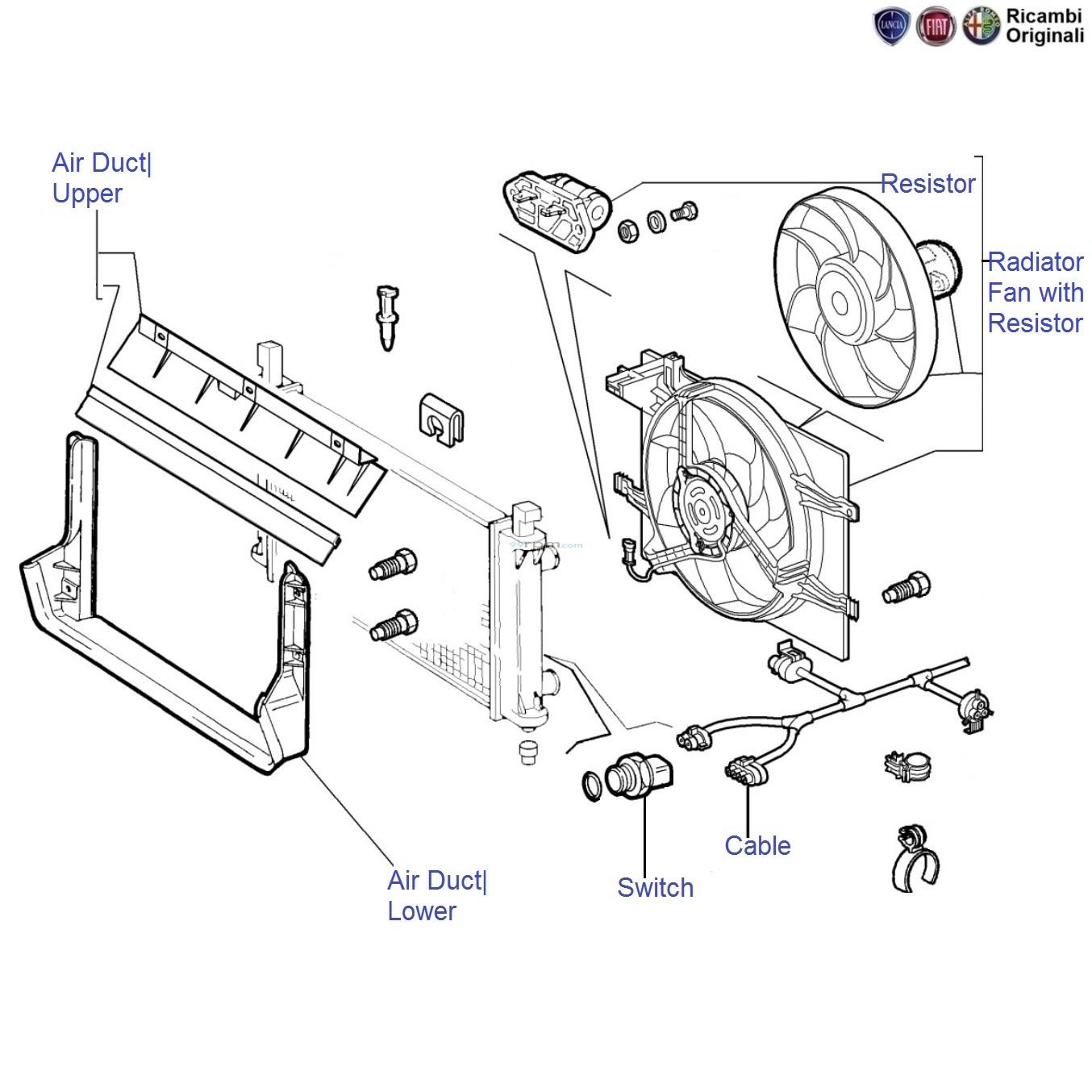 Fiat Palio 1 2  Radiator Fan  U0026 Motor