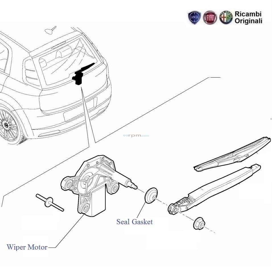 Fiat Punto  Rear Wiper Motor