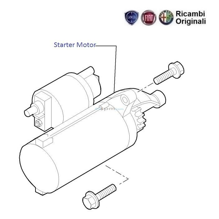 fiat punto 1 3 mjd diesel  starter motor