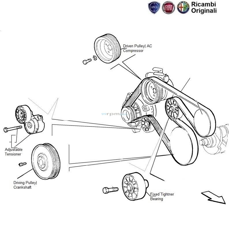 fan belt tensioner bearing