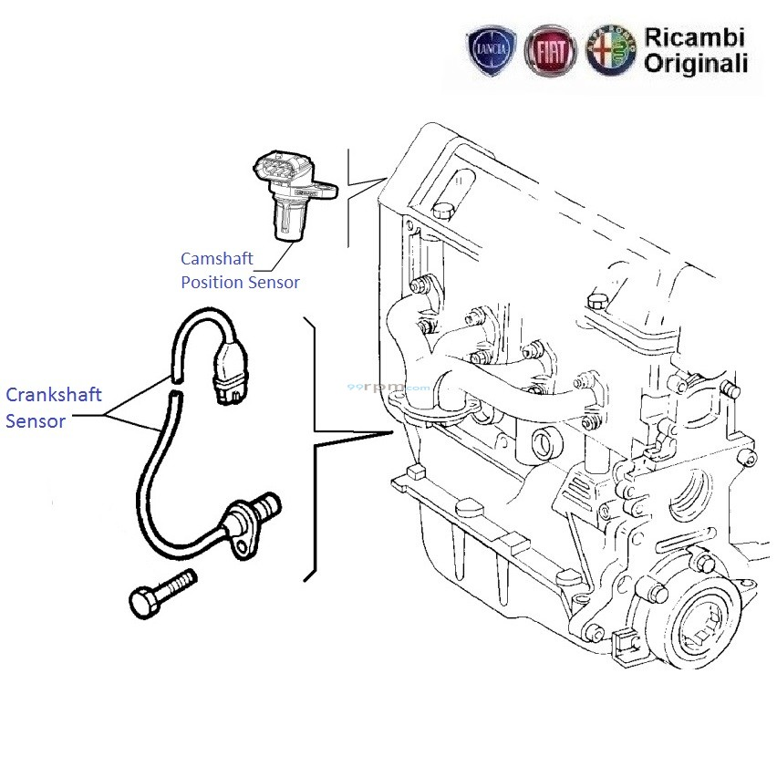 Crankshaft Position Sensor Location on 99 honda civic fuse box diagram
