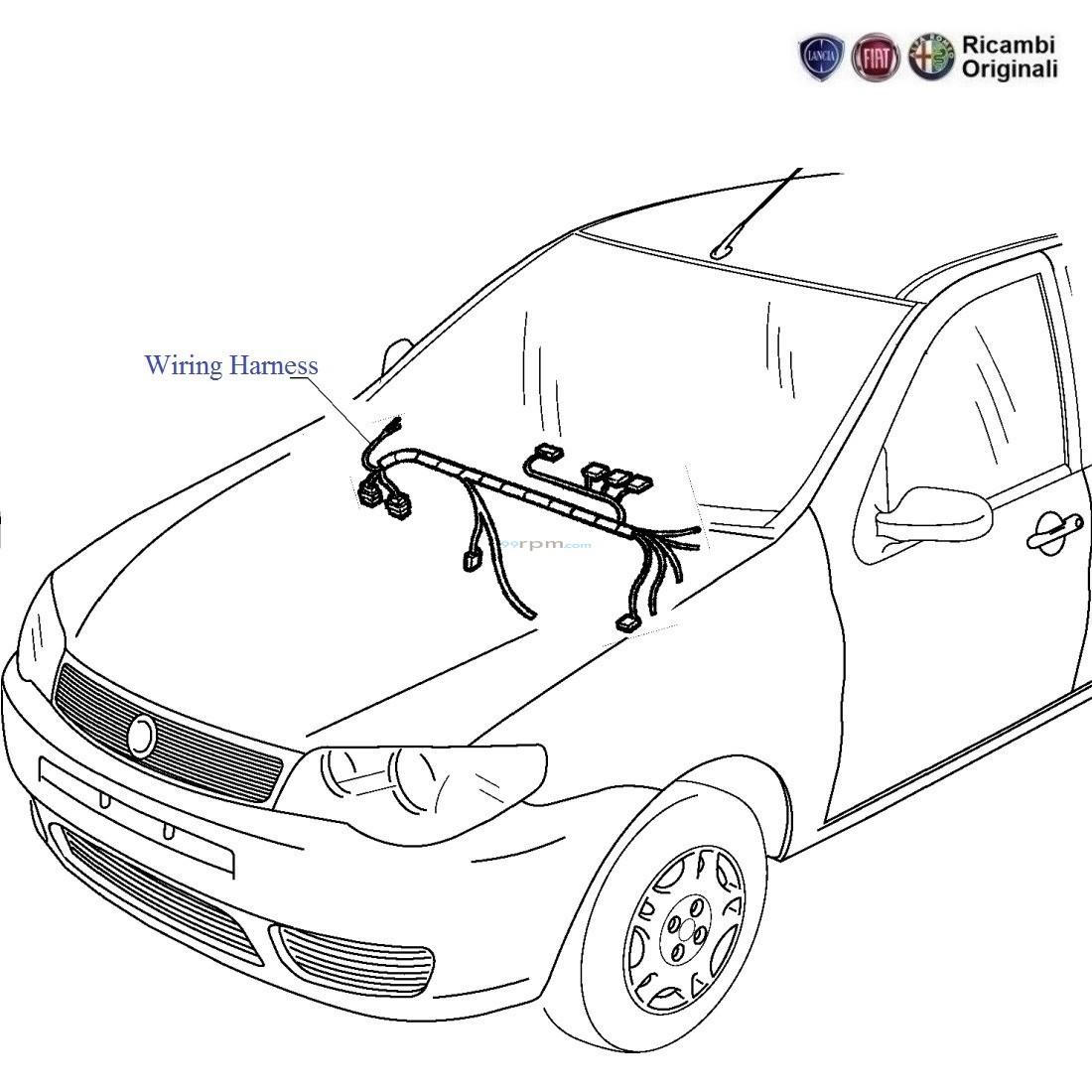 Fiat Palio Stile 13 Mjd Dashboard Wiring Harness Dash