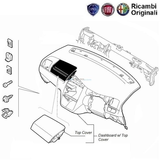 Fiat Grande Punto Dashboard Glove Box And Clips