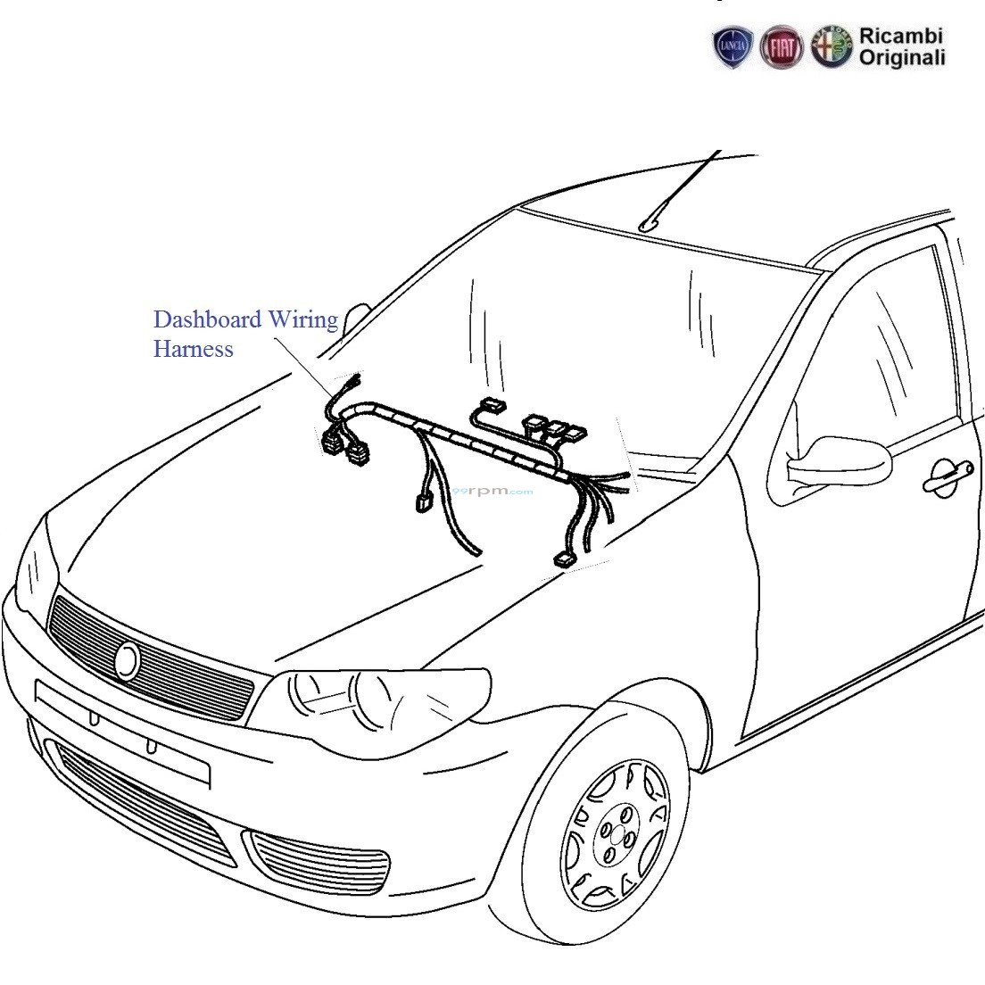 Fiat Palio Stile 11 Petrol Dashboard Wiring Harness