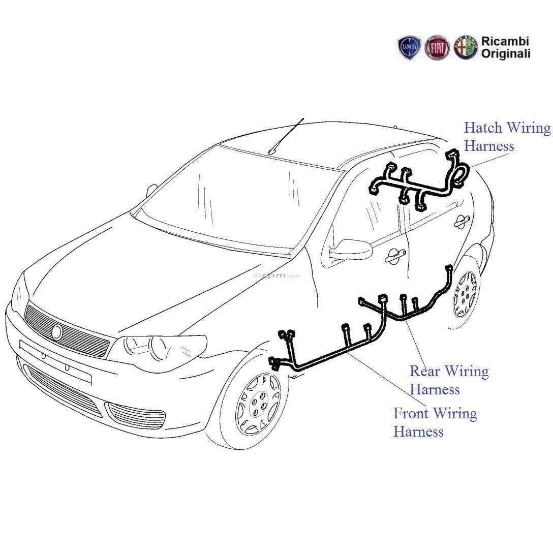 fiat palio 1 9 diesel  door wiring harness