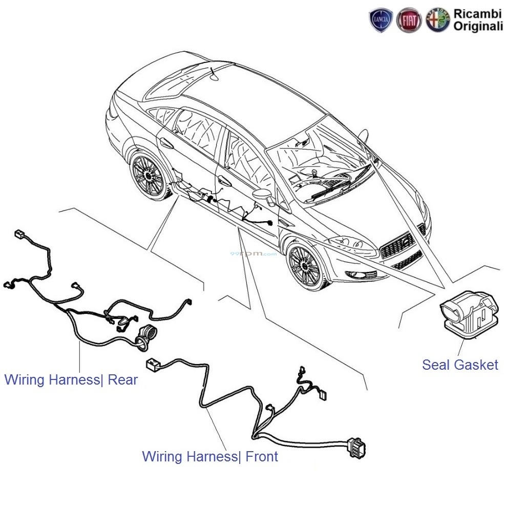 Fiat Linea  Doors Wiring Harness