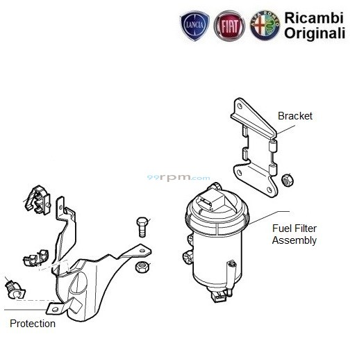 fuel filter  fiat palio stile 1 3 multijet diesel