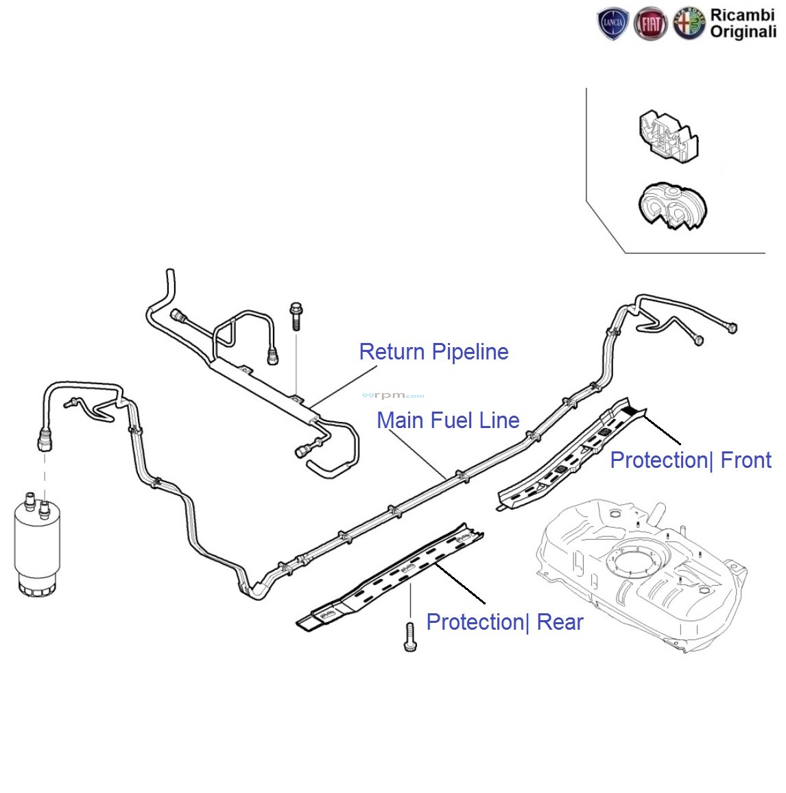 Fiat Punto 13 Mjd 90hp Fuel Pipe Line Vacuum Diagram