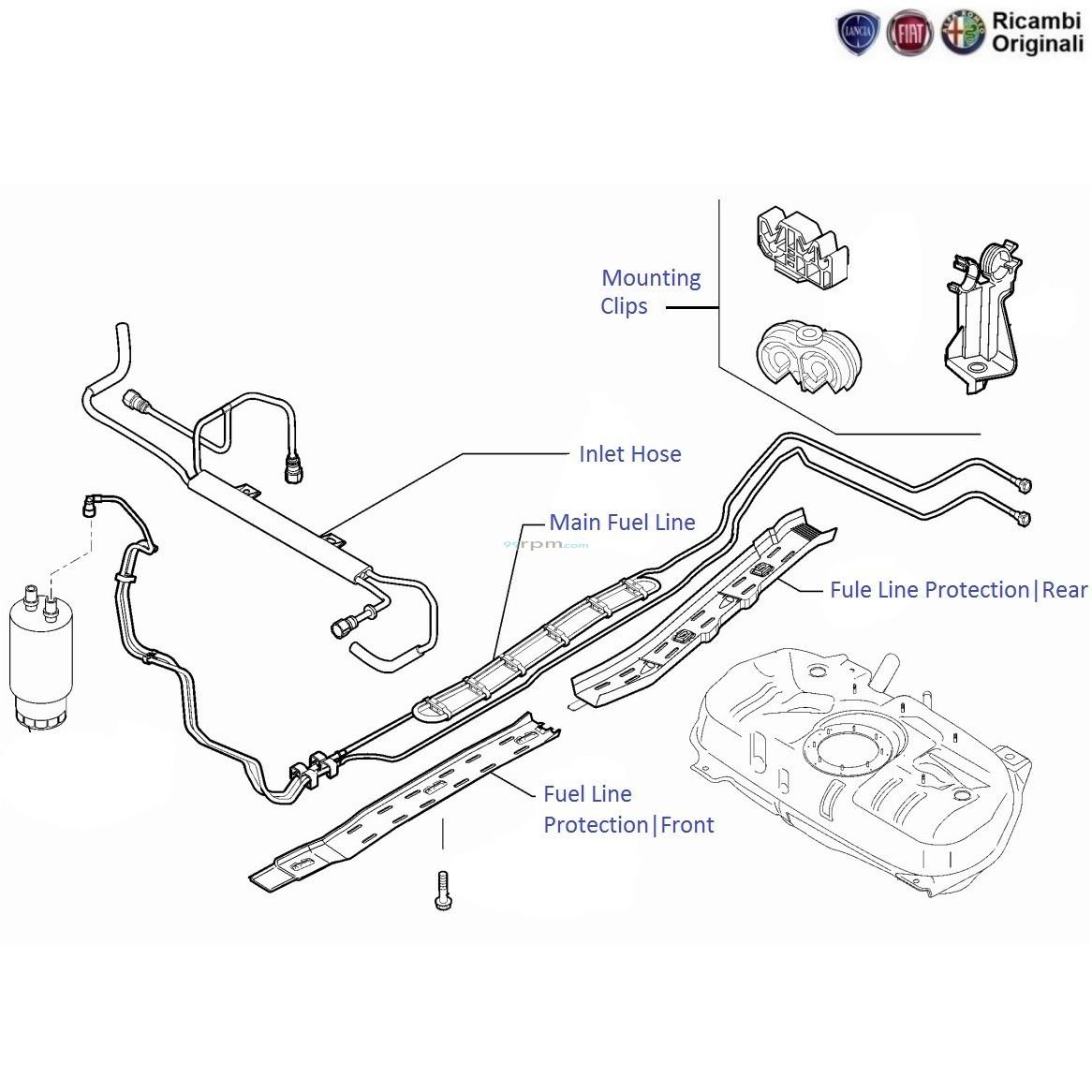 FIAT Linea 1 3 MJD Diesel: Fuel Pipes