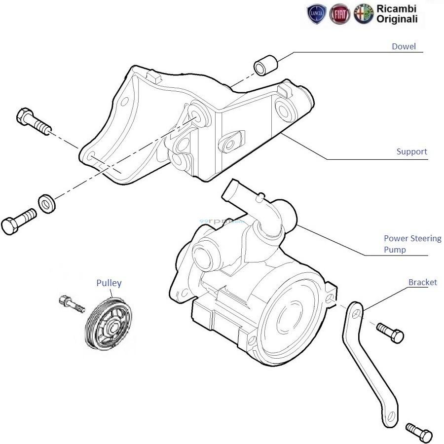 punto power steering motor