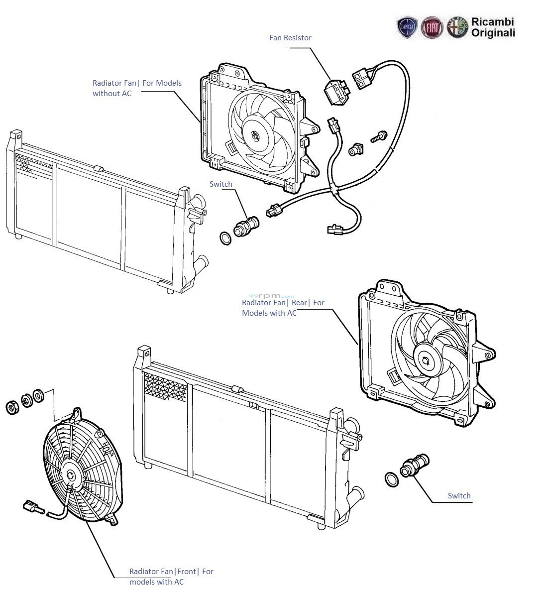 Fiat Uno 17d Radiator Fan Engine Diagram