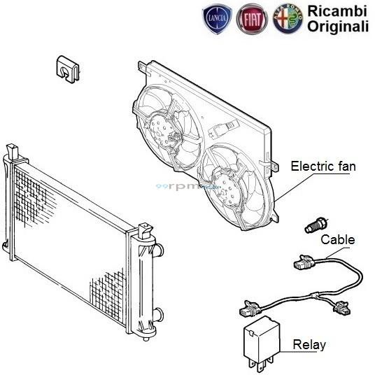 fiat palio stile 1 3 diesel  radiator fan