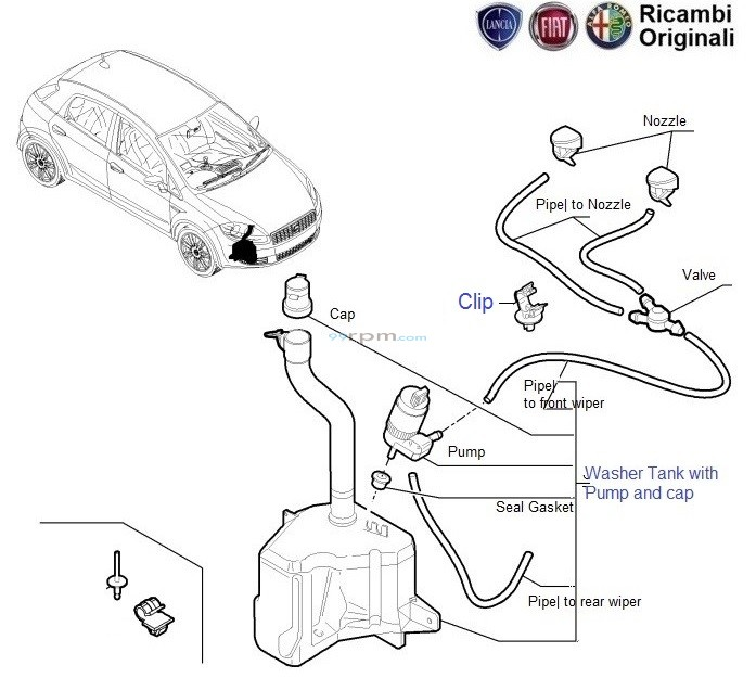 wiper_fluid_tank_punto fiat grande punto wiper fluid tank & pump motor fiat punto wiper motor wiring diagram at webbmarketing.co