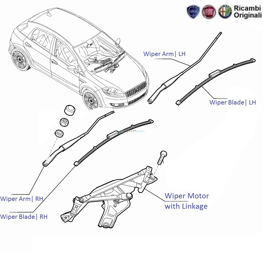 fiat punto wiper motor wiring diagram