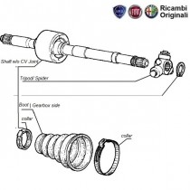 Components  Axle shaft  1.9D  Palio  Petra