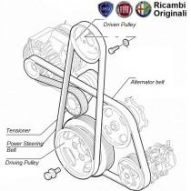 Alternator Belt Punto, Linea 1.3 Multijet diesel