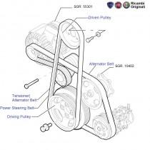 FIAT Linea1.3 MJD Diesel: Belts & Pulleys