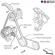 Engine  ponents furthermore  on alternator belt 1 9d palio petra