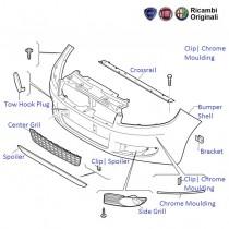 FIAT Linea: Front Bumper, Grills and Spoiler