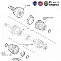 CV Joint & Boot Kit | 1.6| 1.9D| Palio