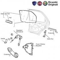 FIAT Palio Front right door glass and window regulator