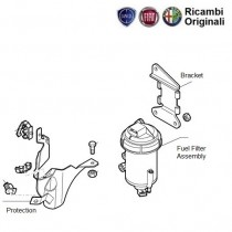 Fiat Palio stile 1.3 multijet diesel fuel filter assembly
