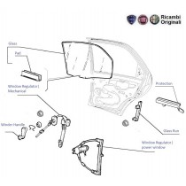 Glass & Regulator|Rear-Left| Palio| Petra| Adventure