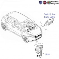 Fiat Punto: Horns & Rear Brake Switch
