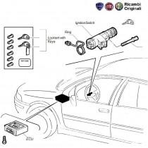 Ignition Key & Lock Set| Palio