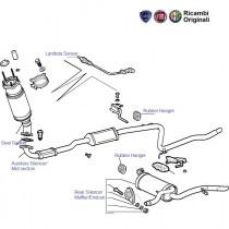 FIAT Petra/Siena 1.6 Silencer, lambda sensor, muffler