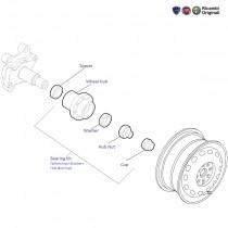 Fiat Grande Punto: Rear Wheel Hub and Wheel Bearing kit