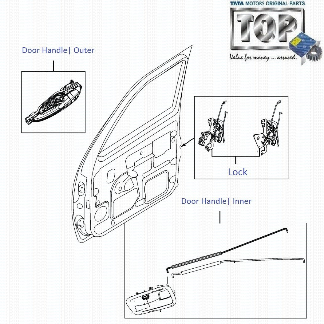 Tata Sumo Grande Front Right Door Lock And Handle Diagram Rh