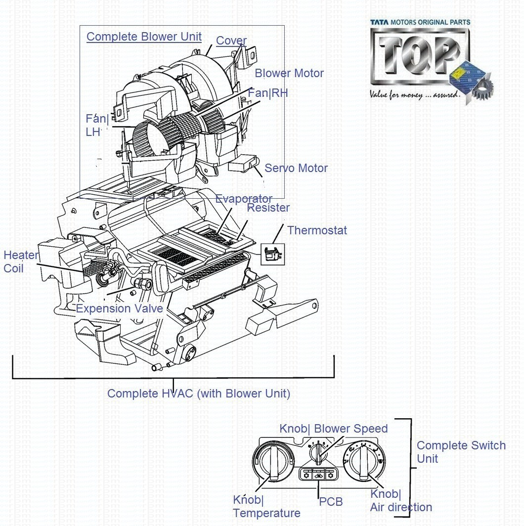 Tata Safari Air Conditioner Hvac Drawing Details 2008 Facelift