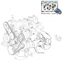 Starter Motor  3.0L DiCOR  Safari