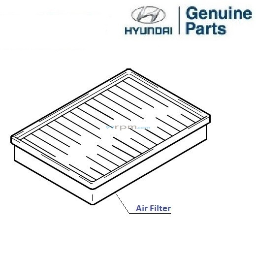 hyundai accent viva  air filter