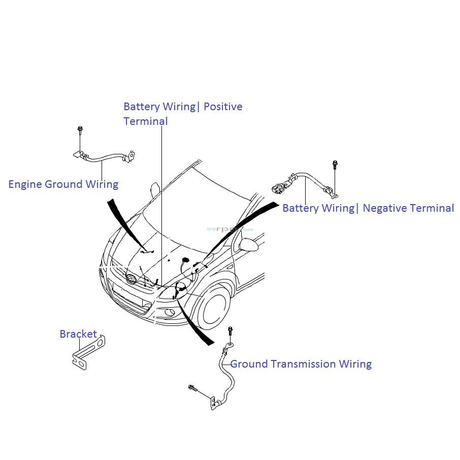 Hyundai I20 1 4 Diesel  Battery Wiring Harness
