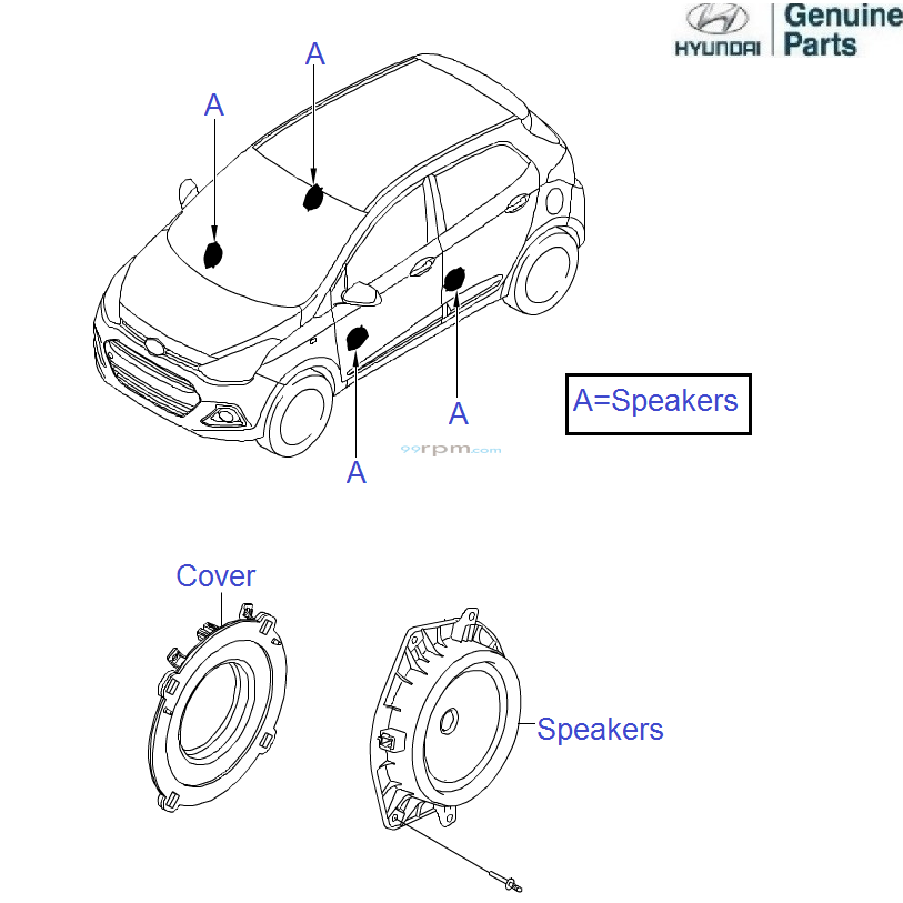 hyundai grand i10  speakers