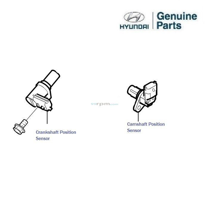hyundai i10 1 2 kappa  camshaft and crankshaft position