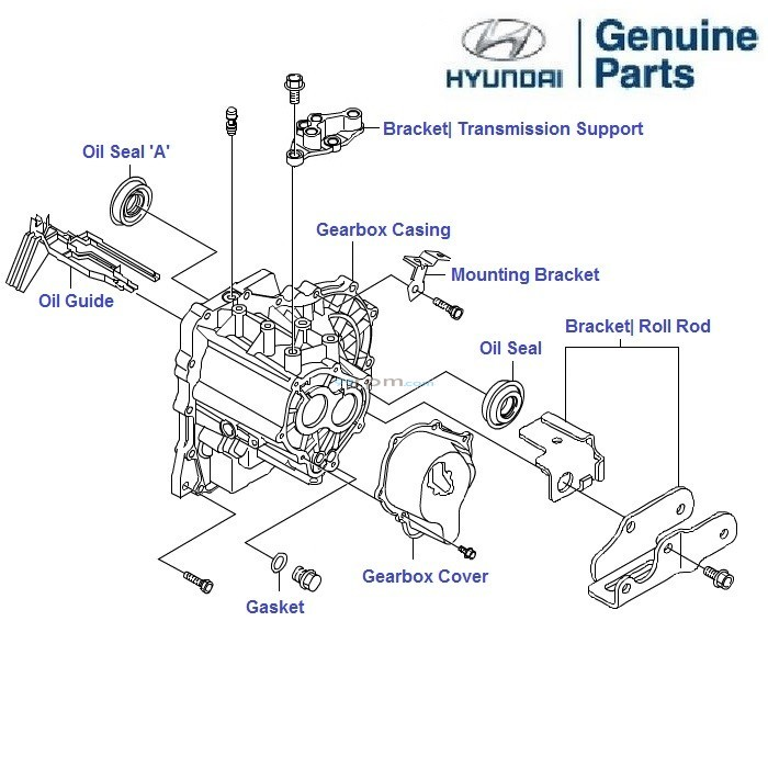 hyundai tiburon transmission diagram