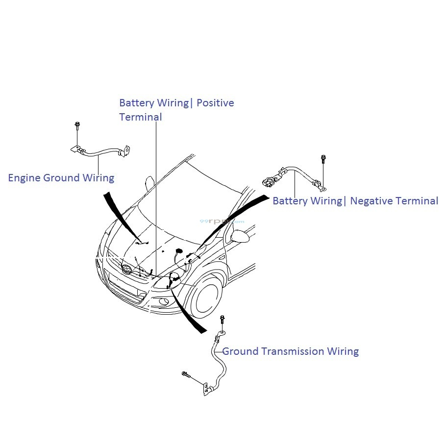 hyundai i20 1 2 petrol  battery wiring harness