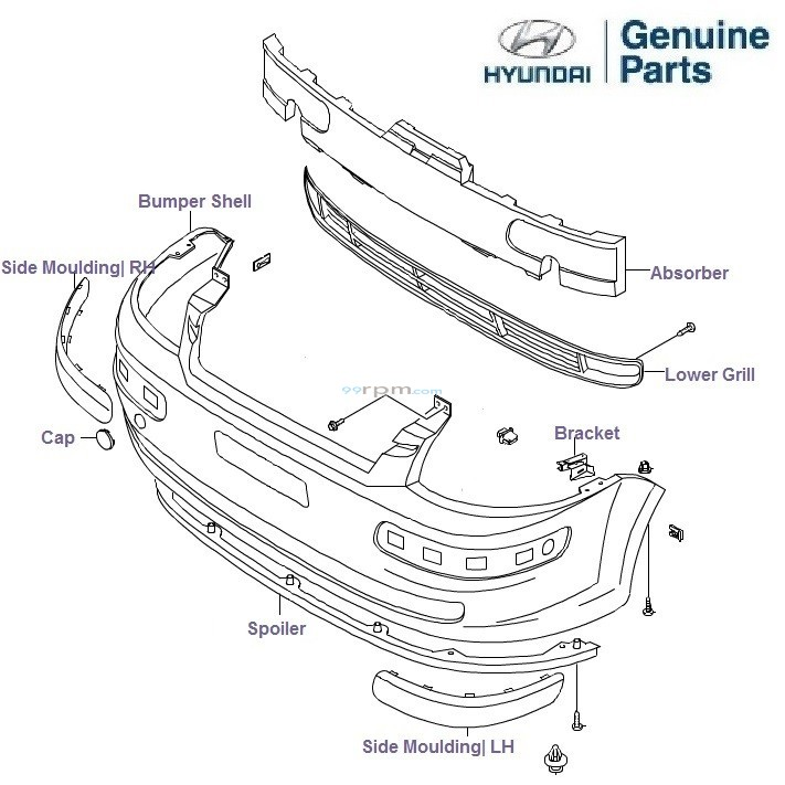 bumper_front__getz knw 801 wiring diagram,wiring \u2022 edmiracle co hyundai getz radio wiring diagram at crackthecode.co