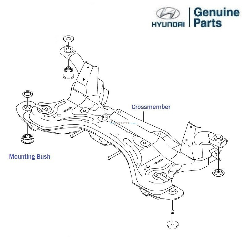hyundai getz prime  front crossmember  mounting bolt  u0026 nut