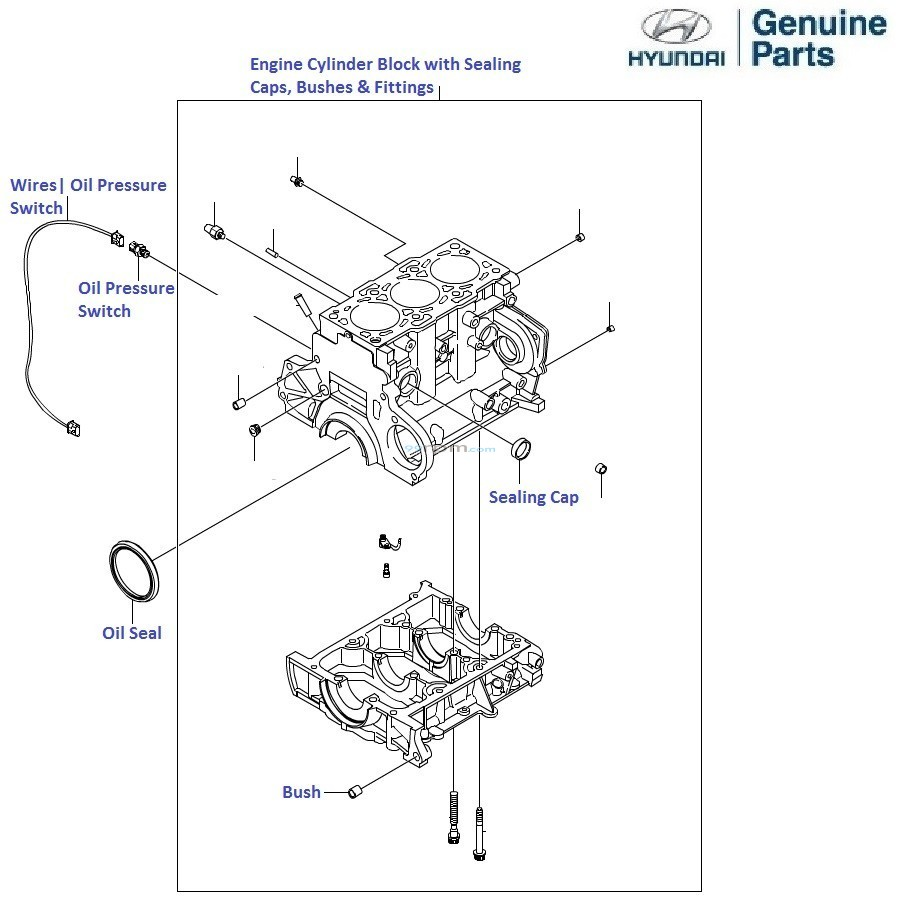 Hyundai Accent Viva 1 5 CRDi: Engine Cylinder Block