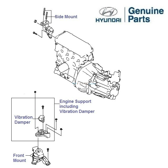 hyundai getz prime 1 3 petrol  engine mounts  u0026 supports