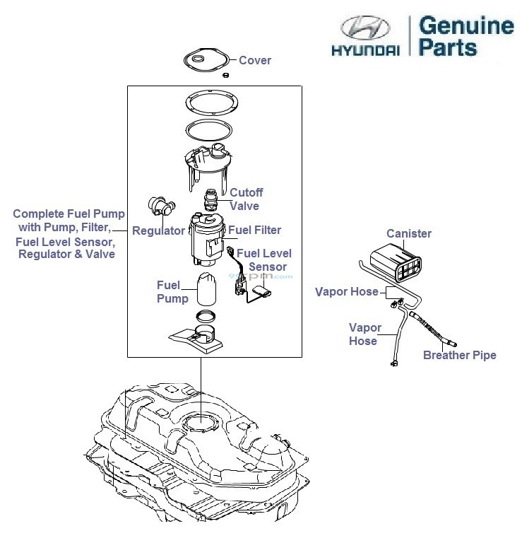 2003 hyundai accent parts catalog