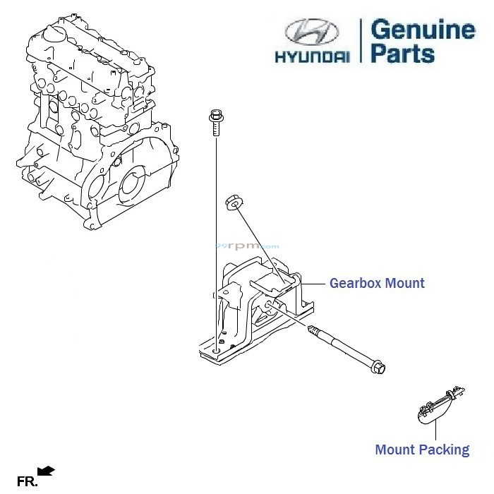hyundai grand i10 1 1 crdi  gearbox mounts  roll rod  trans axle  bracket  packing